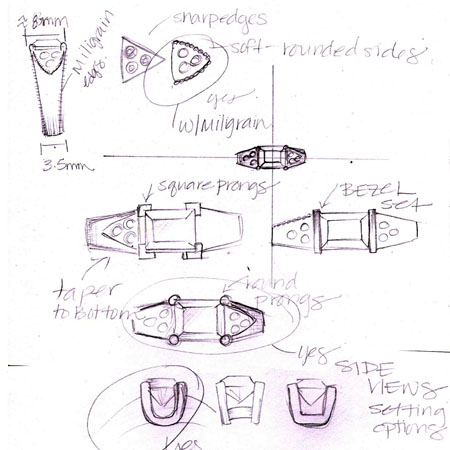 Custom jewelry design sketching cad design sketch sciox Image collections