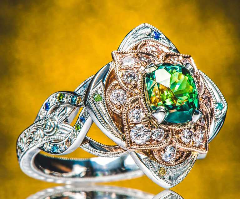 Design Your Own Engagement Ring Custom Jewelry Green Lake Jewelry