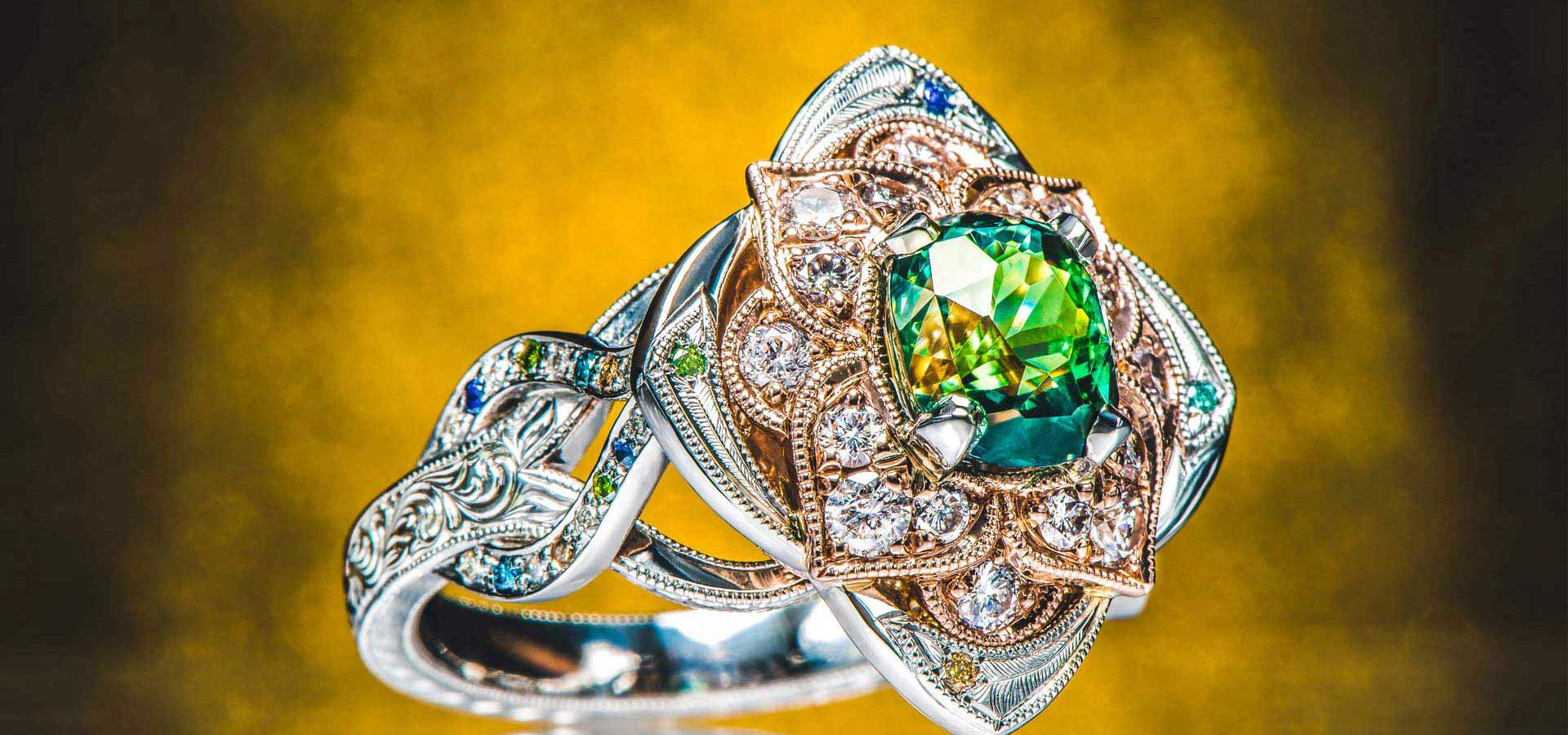 design your own engagement ring amp custom jewelry green