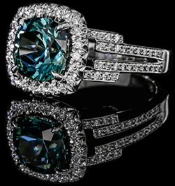 Montana Blue Green Sapphire Engagement Rings