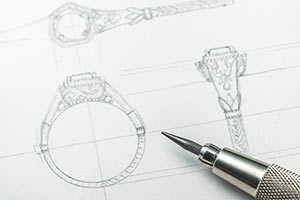 Custom Jewelry Design Sketching Cad