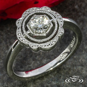 Halo Engagement ring 102104