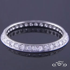 2MM PLATINUM BAND WITH DIAMONDS