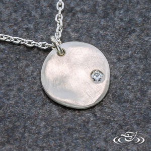 STERLING SILVER RUSTIC PENDANT