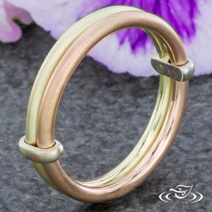 GREEN & ROSE GOLD BAND