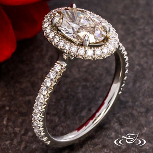 Halo Engagement ring 106027
