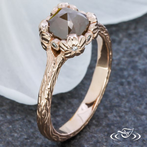 14KR RUSTIC ENGAGEMENT RING