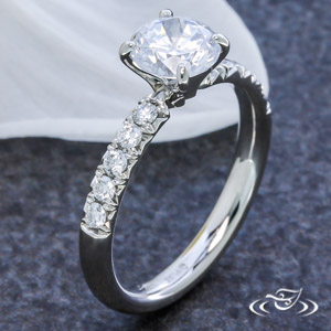 PLATINUM FRENCH SET ENGAGEMENT RING