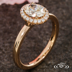ROSE GOLD OVAL HALO