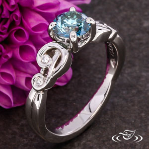 PIERCED SWIRL ENGAGEMENT RING