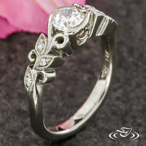FLORAL INSPIRED ENGAGEMENT RING