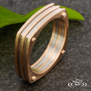 LAYERED AND SQUARED WEDDING BAND