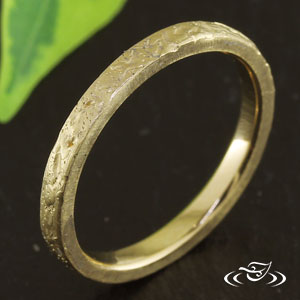 RUSTIC YELLOW GOLD BAND