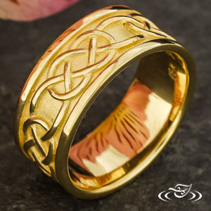 18K YELLOW GOLD 7.5MM BAND