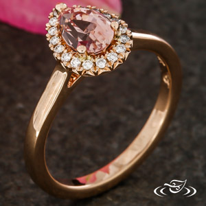 Pretty In Pink Pear Halo