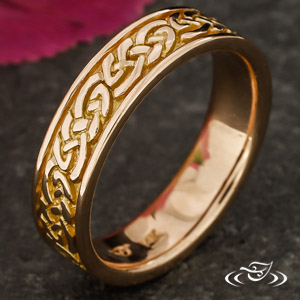 CELTIC KNOT 5MM 14K ROSE GOLD BAND