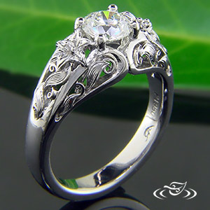 Diamond Garden Engagement ring