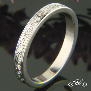 SCROLL ENGRAVED BAND