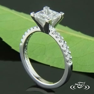 Platinum Mounting with diamonds.