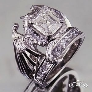 dragon wedding ring my custom jewelry design at green lake jewelry works 3678