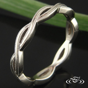 18K WHITE GOLD TWIST BAND