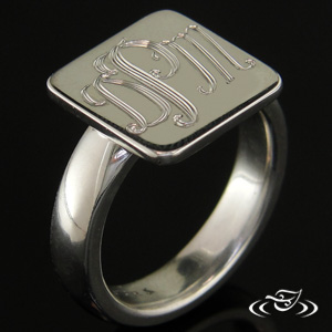 STERLING SILVER CUSTOM SIGNET STYLE RING