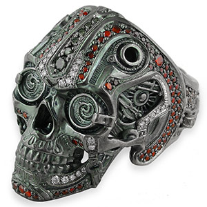 STEAMPUNK SKULL RING FROM THE INKMETAL PALADIO COLLECTION