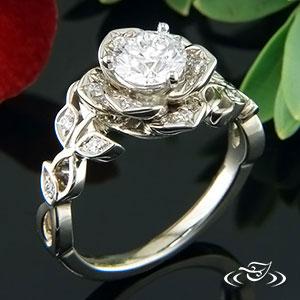 DIAMOND LOTUS ENGAGEMENT RING