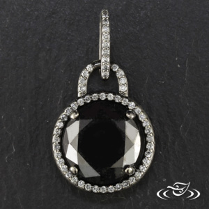 14KW BLACK DIAMOND PENDANT