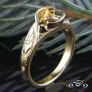 18k Yellow Gold Wrap Mounting