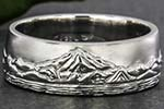 Mountain wedding ring