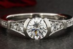 Non prong engagement ring